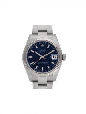 Наручные часы Datejust 32 мм 2007-го года pre-owned Rolex. Цвет: голубой