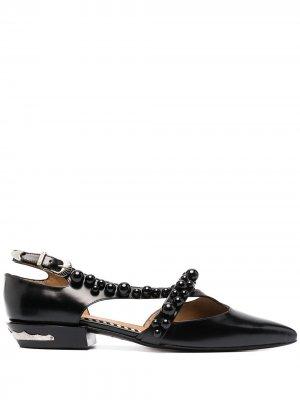 Балетки с заостренным носком Toga Pulla. Цвет: черный