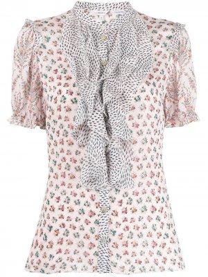 Блузка Vita с оборками и принтом Liberty London. Цвет: розовый