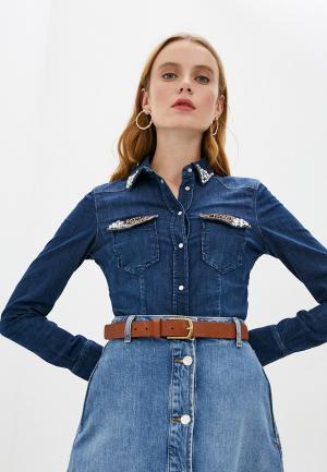 Рубашка джинсовая Liu Jo. Цвет: синий