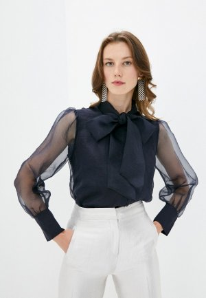 Блуза Rich&Royal. Цвет: синий