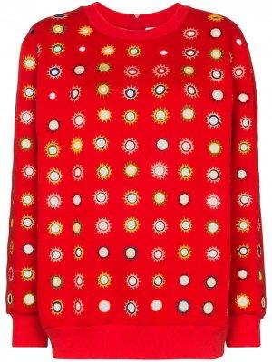 Декорированная толстовка Ashish. Цвет: красный
