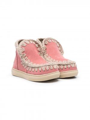 Ботинки с декоративной строчкой Mou Kids. Цвет: розовый