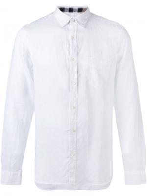 Рубашка с нагрудным карманом Burberry. Цвет: белый