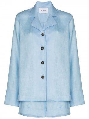 Пижама с шортами Sleeper. Цвет: синий