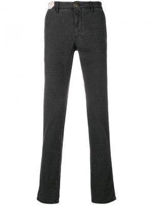 Клетчатые джинсы прямого кроя Incotex. Цвет: серый
