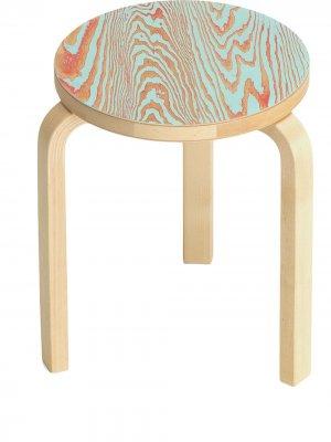Табурет с круглым сиденьем Artek. Цвет: коричневый