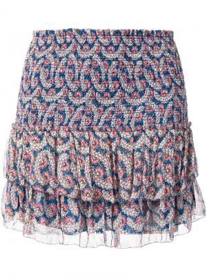 Brinley smocked floral-print skirt Isabel Marant Étoile. Цвет: синий