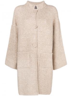 Однобортное пальто D.Exterior. Цвет: нейтральные цвета