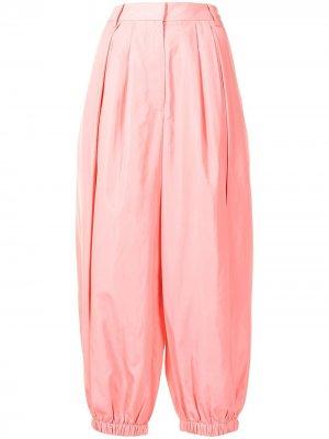 Зауженные брюки Tibi. Цвет: розовый