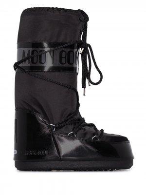Дутые ботинки Icon Glance на плоской подошве Moon Boot. Цвет: черный