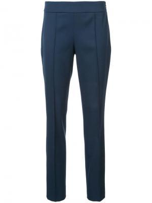 Прямые брюки Oscar de la Renta. Цвет: синий