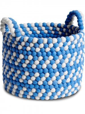 Bead wool basket Hay. Цвет: синий
