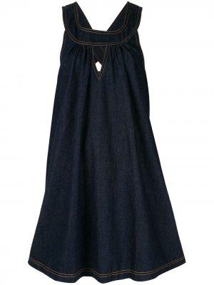Джинсовое платье Cascade Karen Walker. Цвет: синий