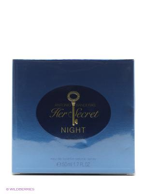 Туалетная вода Antonio Banderas Her Secret Night, 50 мл.. Цвет: прозрачный