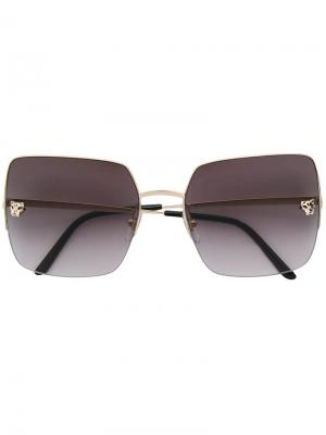 Panthere oversized square sunglasses Cartier. Цвет: золотистый