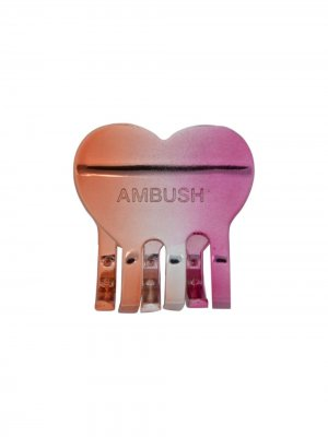 Заколка для волос с логотипом AMBUSH. Цвет: розовый