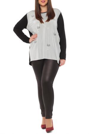 Блуза Leshar. Цвет: серый