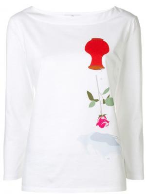 Flower print sweatshirt Ps By Paul Smith. Цвет: белый