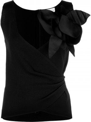 Топ Cece с цветочной аппликацией Sachin & Babi. Цвет: черный