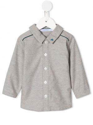 Рубашка с вышивкой Familiar. Цвет: серый