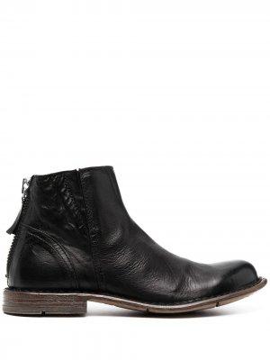 Ботинки с закругленным носком MOMA. Цвет: черный
