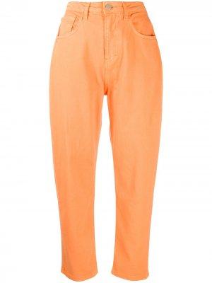 Зауженные джинсы с завышенной талией IRENEISGOOD. Цвет: оранжевый