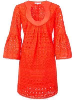 Расклешенное платье мини Trina Turk. Цвет: красный