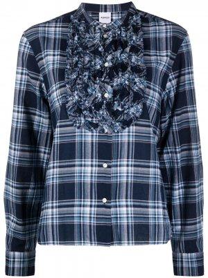 Клетчатая рубашка с манишкой Aspesi. Цвет: серый