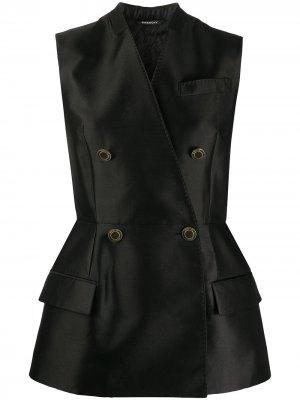 Двубортный жилет Givenchy. Цвет: черный