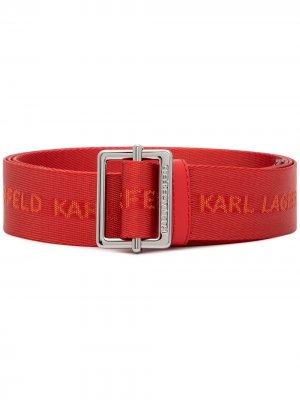 Ремень K/Webbing Karl Lagerfeld. Цвет: красный