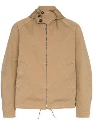 Куртка с капюшоном Ten C. Цвет: коричневый