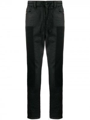 Зауженные джинсы с низким шаговым швом Diesel. Цвет: черный