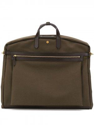 Парусиновый портфель MS Suit Mismo. Цвет: коричневый