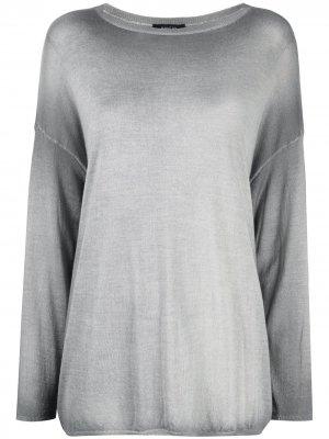 Джемпер с приспущенными плечами Avant Toi. Цвет: серый