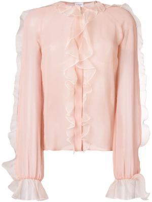 Delicate ruffle blouse Giambattista Valli. Цвет: розовый