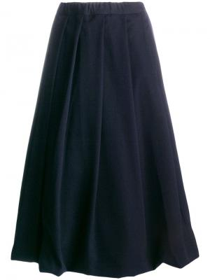 Плиссированная юбка миди Comme Des Garçons. Цвет: синий