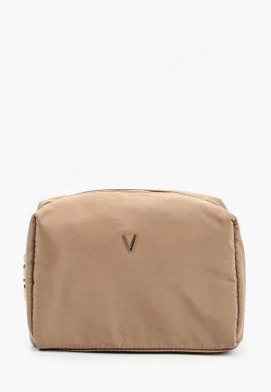 Косметичка Violeta by Mango. Цвет: коричневый