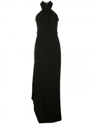 Вечернее платье без рукавов Halston Heritage. Цвет: черный
