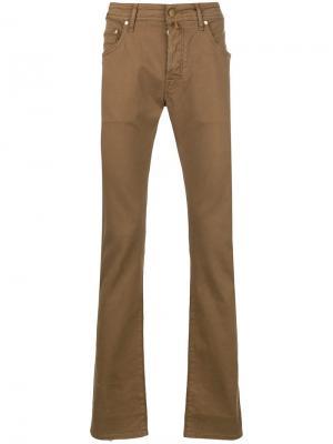 Slim regular trousers Jacob Cohen. Цвет: коричневый