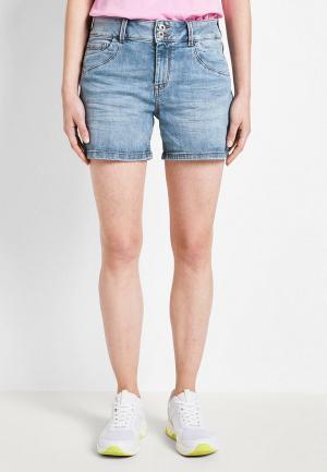 Шорты джинсовые Tom Tailor Denim. Цвет: голубой