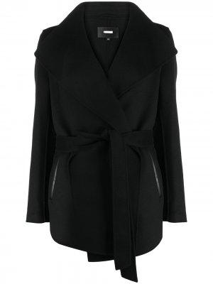 Пальто с запахом Mackage. Цвет: черный