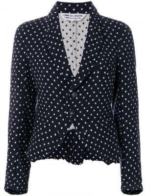 Облегающая куртка в горох Comme Des Garçons Pre-Owned. Цвет: синий