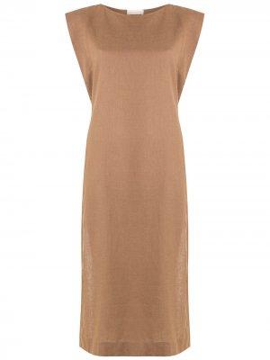 Платье-туника Sopro PIU BRAND. Цвет: коричневый