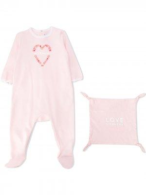 Комплект для новорожденного с логотипом Givenchy Kids. Цвет: розовый