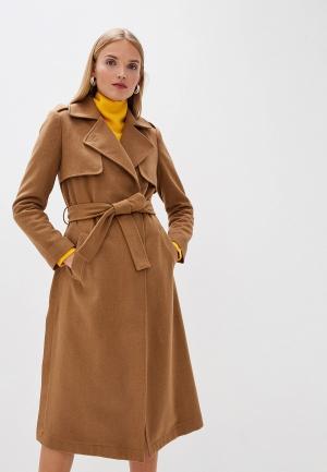 Пальто Trussardi Jeans. Цвет: бежевый