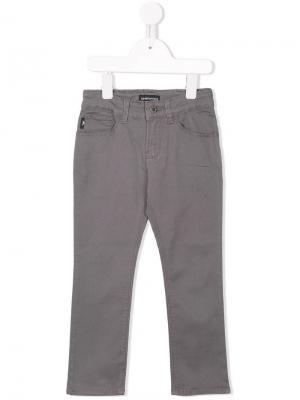 Stretch slim-fit jeans Emporio Armani Kids. Цвет: серый