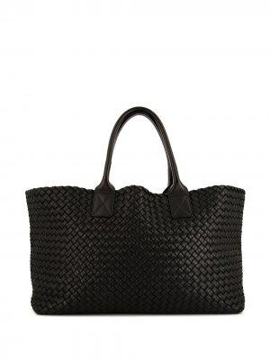 Сумка-тоут Cabat с плетением Intrecciato Bottega Veneta Pre-Owned. Цвет: черный