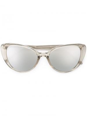 Солнцезащитные очки кошачий глаз Linda Farrow. Цвет: нейтральные цвета