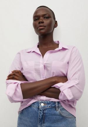 Рубашка Violeta by Mango. Цвет: фиолетовый